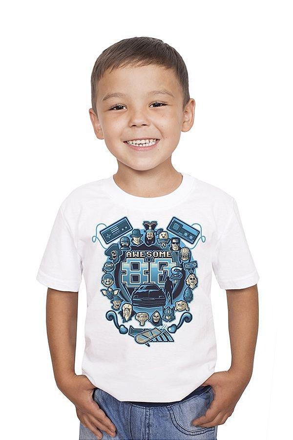 Camiseta Infantil Awesome 80 Nerd e Geek - Presentes Criativos
