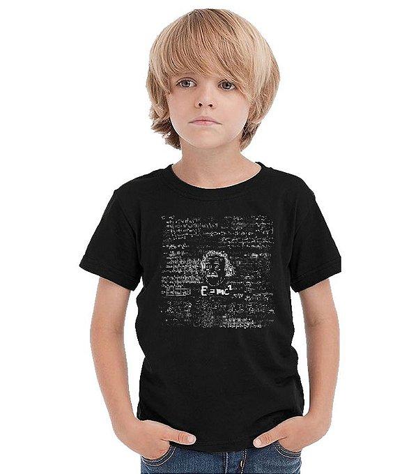 Camiseta Infantil Albert Einstein Nerd e Geek - Presentes Criativos