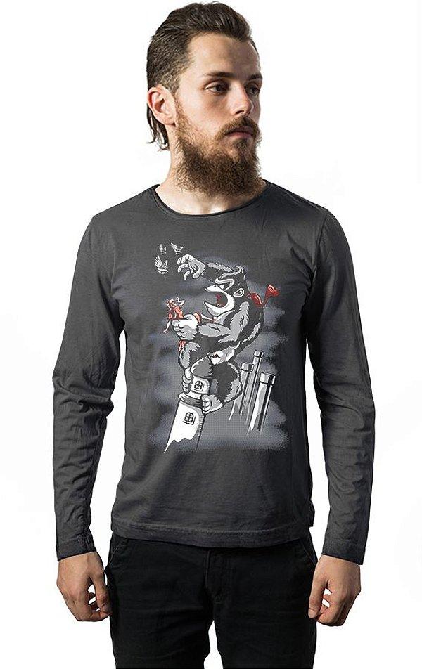 Camiseta Masculina Manga Longa The 8th Wonder Nerd e Geek - Presentes Criativos