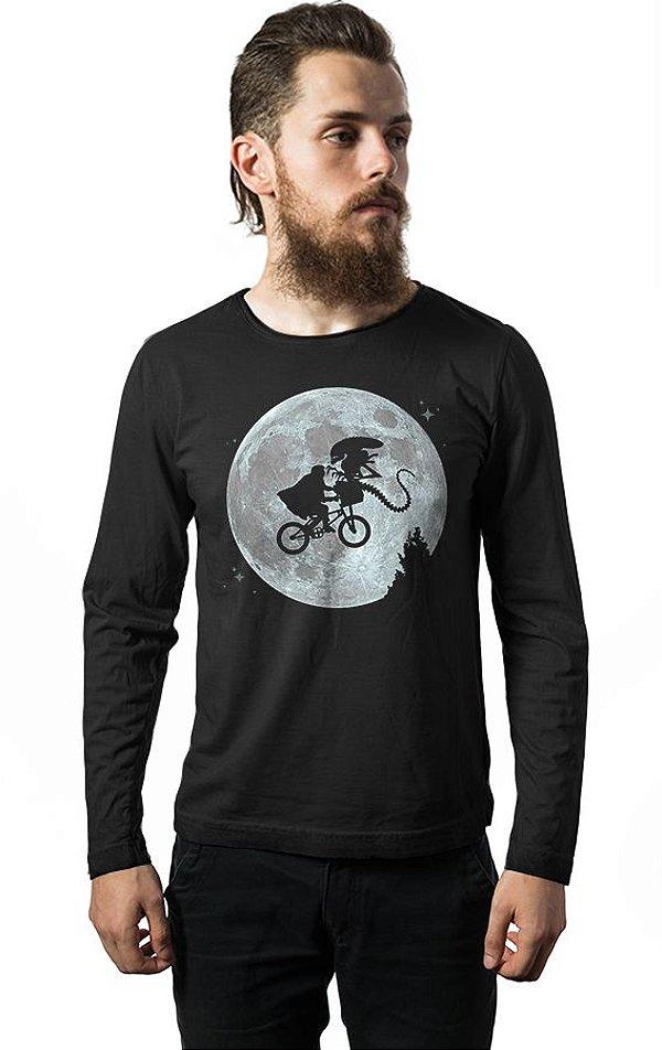 Camiseta Masculina Manga Longa ET Alien Nerd e Geek - Presentes Criativos