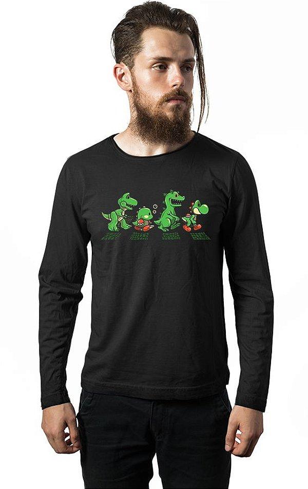 Camiseta Masculina Manga Longa Road Nerd e Geek - Presentes Criativos