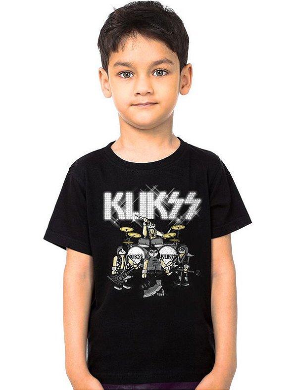 Camiseta Infantil Klikss Playmobil - Nerd e Geek - Presentes Criativos