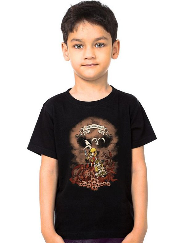 Camiseta Infantil The Hyrulean Age - Nerd e Geek - Presentes Criativos