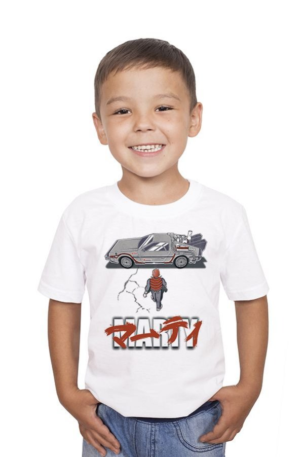 Camiseta Infantil Marty - Nerd e Geek - Presentes Criativos