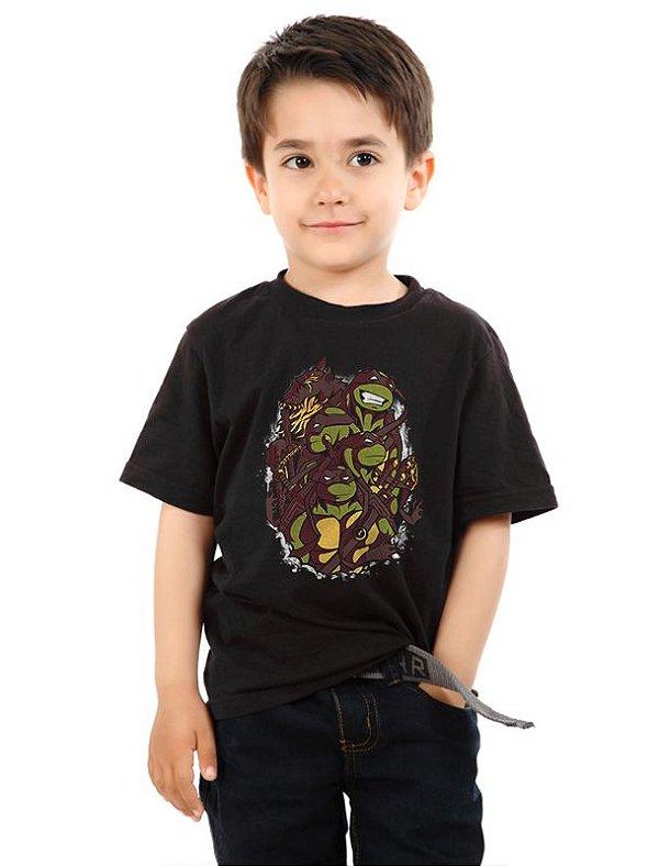 Camiseta Infantil The Green Team Nerd e Geek - Presentes Criativos