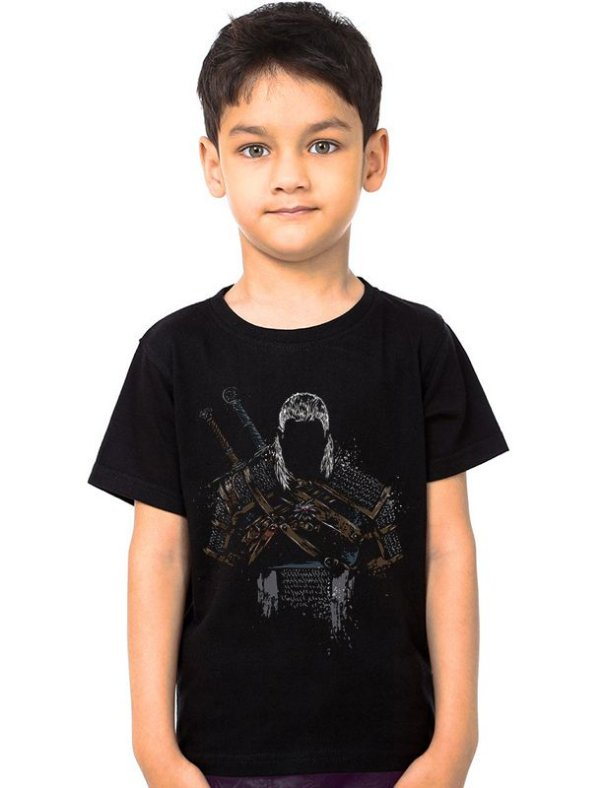 Camiseta Infantil Whitcher Hunter Nerd e Geek - Presentes Criativos