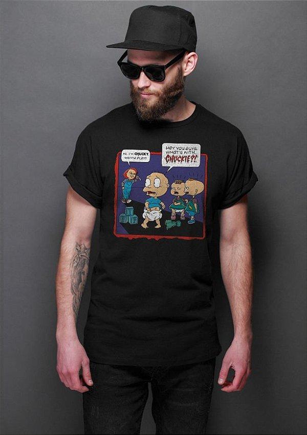 Camiseta Masculina Chuck - Nerd e Geek - Presentes Criativos