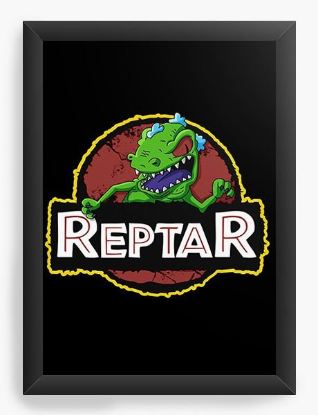Quadro Decorativo A4 (33X24) Reptar - Nerd e Geek - Presentes Criativos