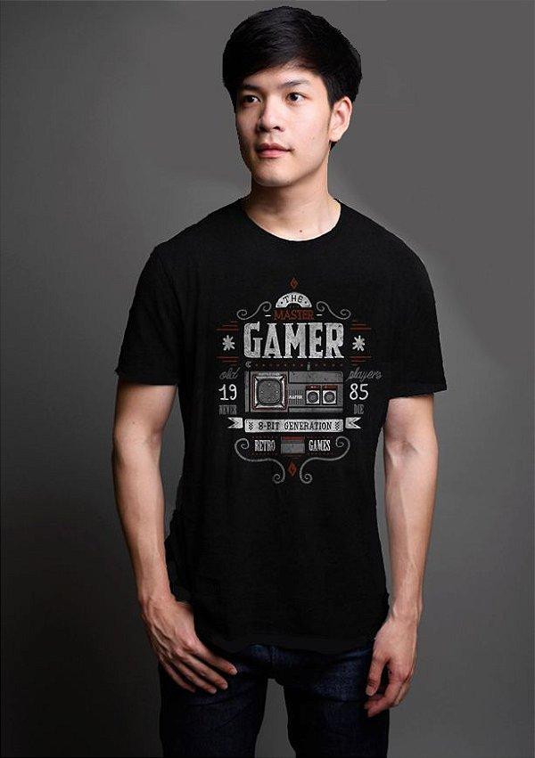 Camiseta Masculina Gamer 8 Bit Master - Nerd e Geek - Presentes Criativos