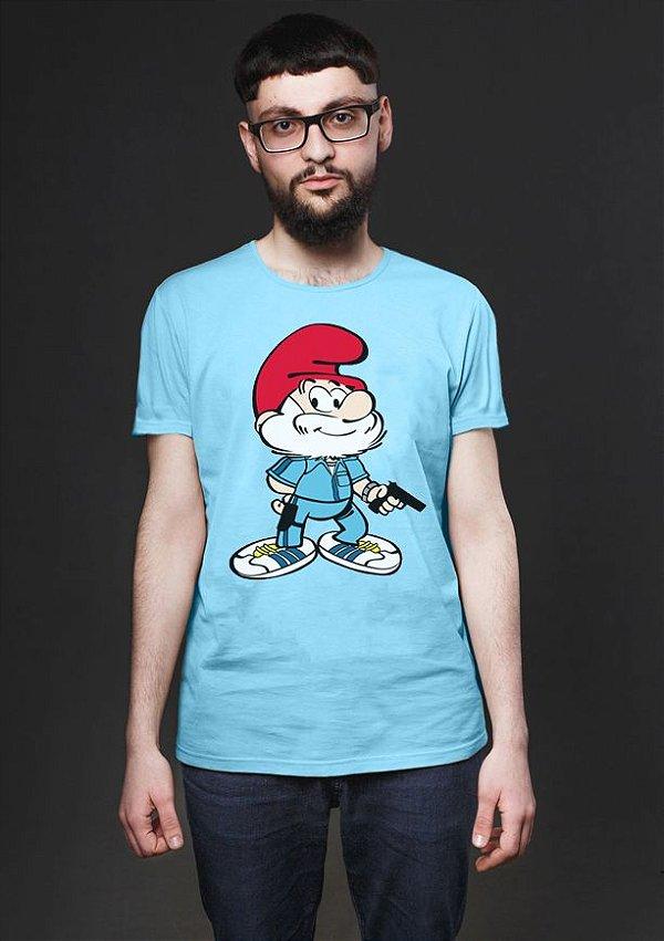 Camiseta Masculina Smurf - Nerd e Geek - Presentes Criativos