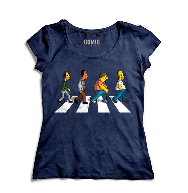 Camiseta Feminina Simpsons Road- Nerd e Geek - Presentes Criativos