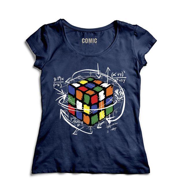 Camiseta Feminina  Cubo Magico. - Nerd e Geek - Presentes Criativos