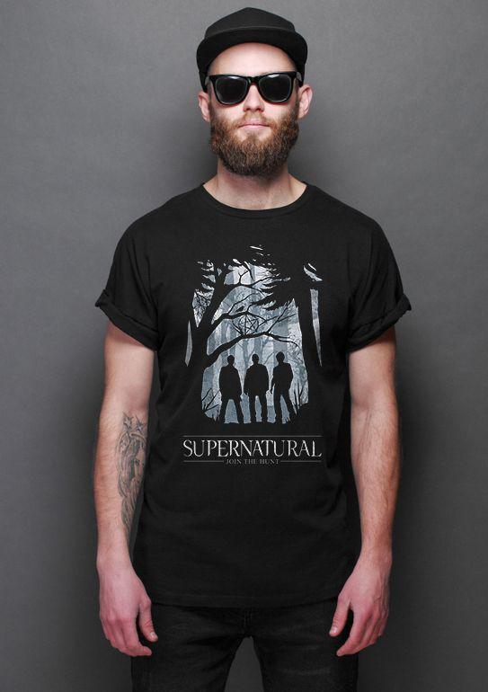 Camiseta Masculina Series SuperNatural  - Presentes Criativos