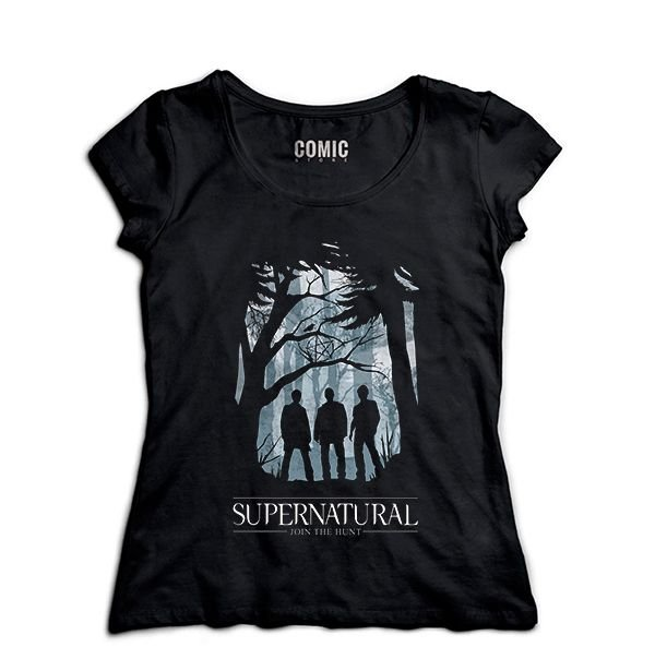Camiseta Feminina Séries Supernatural - Presentes Criativos