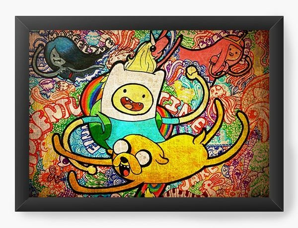 Quadro Decorativo A3 (45X33) Adventure Time - Nerd e Geek - Presentes Criativos