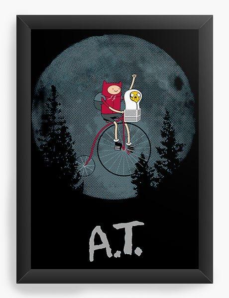 Quadro Decorativo A3 (45X33) Adventure Time Et - Nerd e Geek - Presentes Criativos