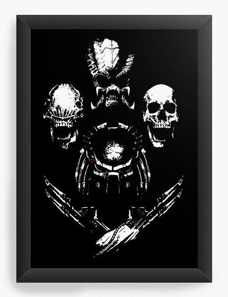 Quadro Decorativo A3 (45X33) Aliens - Nerd e Geek - Presentes Criativos
