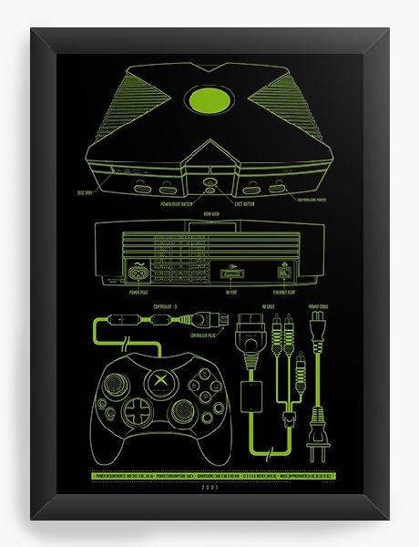 Quadro Decorativo A3 (45X33) Box - Nerd e Geek - Presentes Criativos