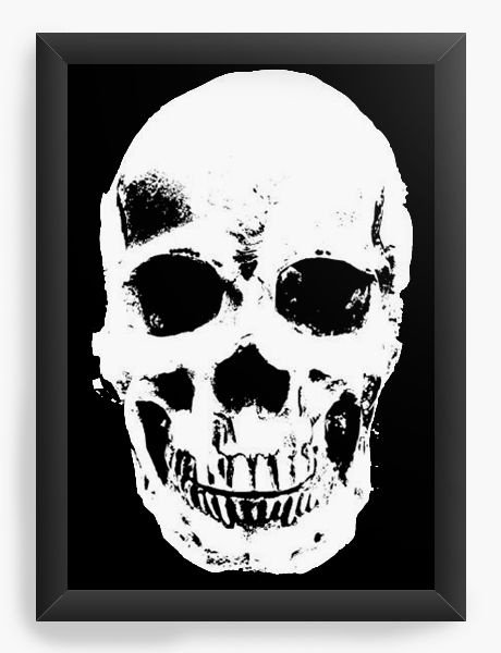 Quadro Decorativo A3 (45X33) Caveira - Nerd e Geek - Presentes Criativos