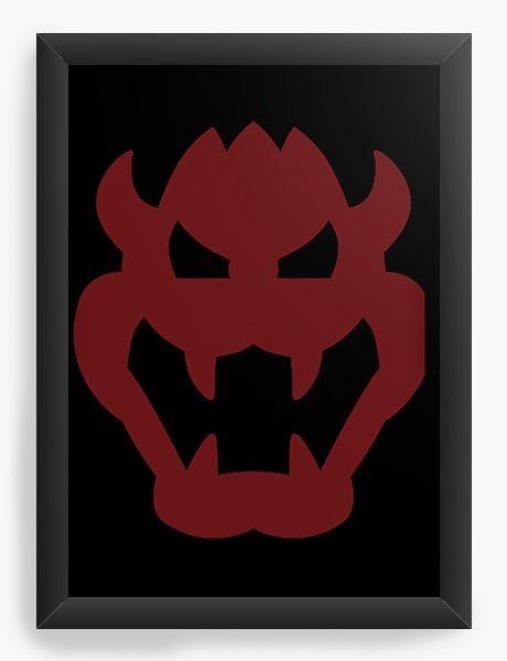 Quadro Decorativo A3 (45X33) Demon - Nerd e Geek - Presentes Criativos