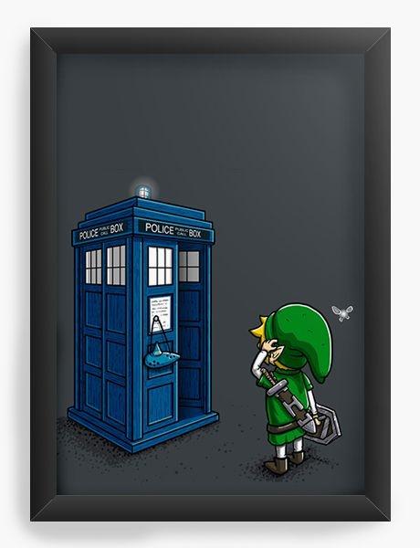 Quadro Decorativo A3 (45X33) Doctor Who - Link - Nerd e Geek - Presentes Criativos