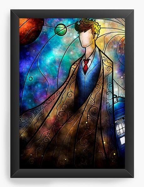 Quadro Decorativo A3 (45X33) Doctor Who Police - Nerd e Geek - Presentes Criativos