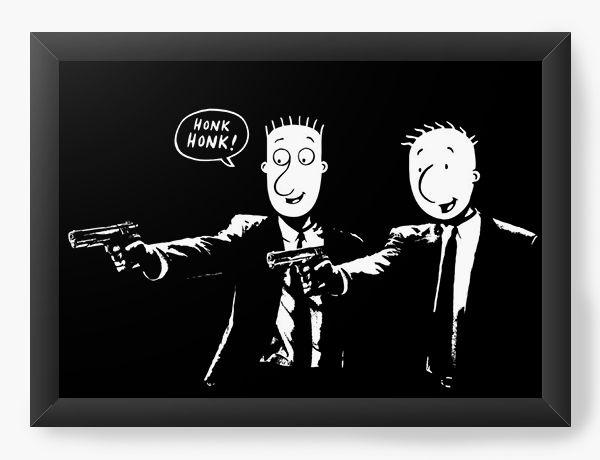Quadro Decorativo A3 (45X33) Doug Fiction  - Nerd e Geek - Presentes Criativos