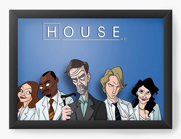 Quadro Decorativo A3 (45X33) Dr House - Nerd e Geek - Presentes Criativos