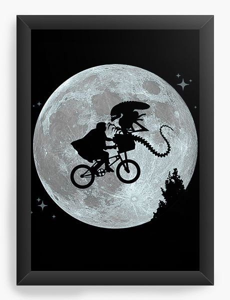 Quadro Decorativo A3 (45X33) Et Alien - Nerd e Geek - Presentes Criativos