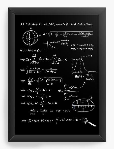 Quadro Decorativo A3 (45X33) Formula Universe - Nerd e Geek - Presentes Criativos