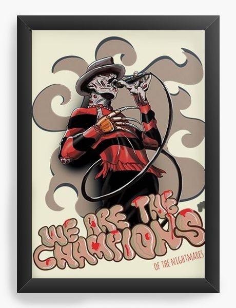 Quadro Decorativo A3 (45X33) Freddy Skull - Nerd e Geek - Presentes Criativos