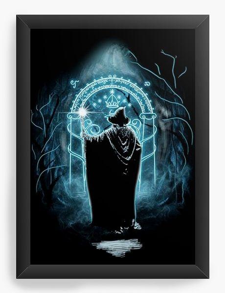 Quadro Decorativo A3 (45X33) Gandalf - O Senhor dos Anéis - Nerd e Geek - Presentes Criativos