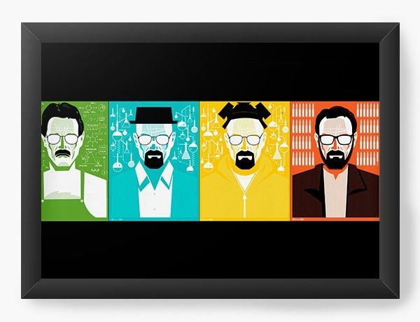 Quadro Decorativo A3 (45X33) Heisenberg - Nerd e Geek - Presentes Criativos