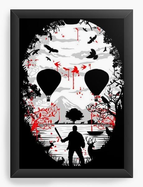 Quadro Decorativo A3 (45X33) Jason - Nerd e Geek - Presentes Criativos