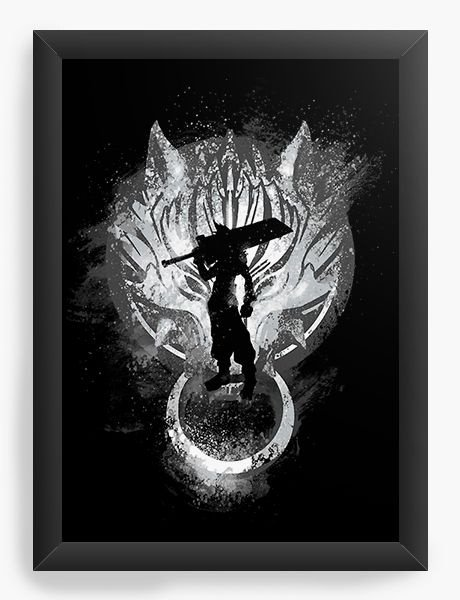 Quadro Decorativo A3 (45X33) Kingdom Hearts - Cloud - Nerd e Geek - Presentes Criativos