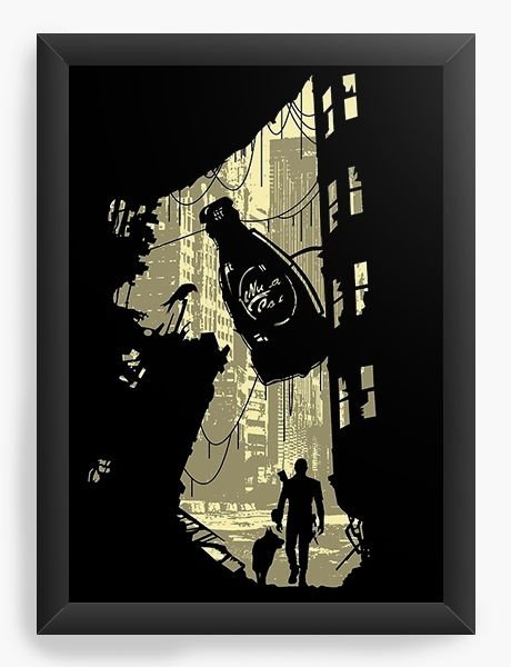 Quadro Decorativo A3 (45X33) Life After - Nerd e Geek - Presentes Criativos
