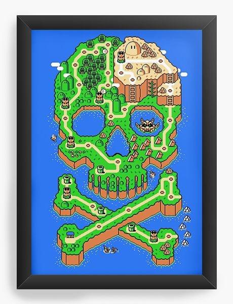 Quadro Decorativo A3 (45X33) Map - Nerd e Geek - Presentes Criativos