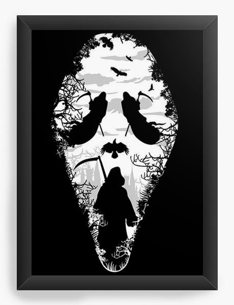 Quadro Decorativo A3 (45X33) Marmorizada Death - Nerd e Geek - Presentes Criativos