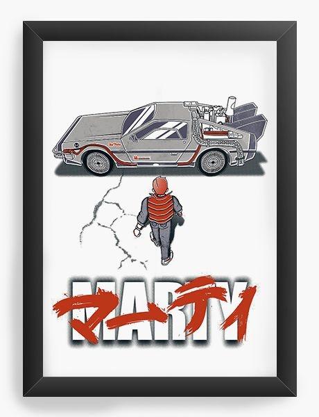 Quadro Decorativo A3 (45X33) Marty - Nerd e Geek - Presentes Criativos