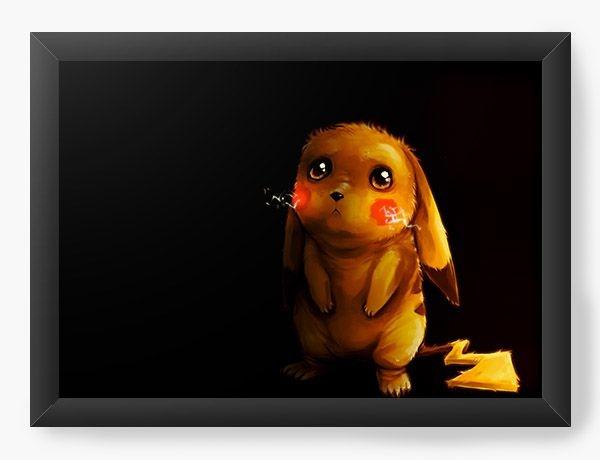 Quadro Decorativo A3 (45X33) Pikachu - Pokemon - Nerd e Geek - Presentes Criativos