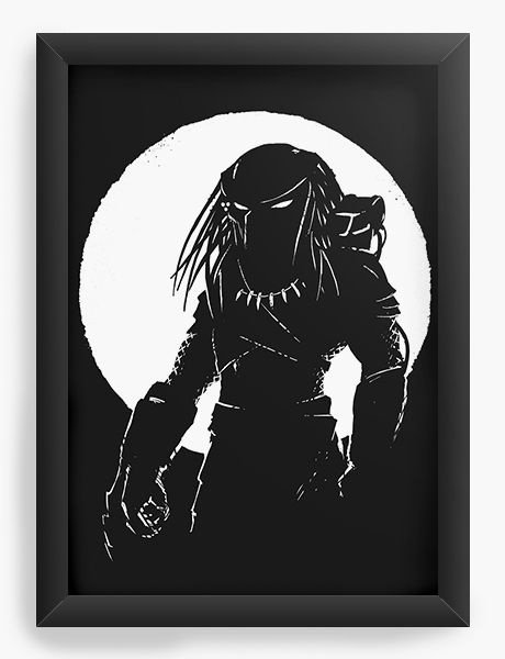 Quadro Decorativo A3 (45X33) Predador - Nerd e Geek - Presentes Criativos