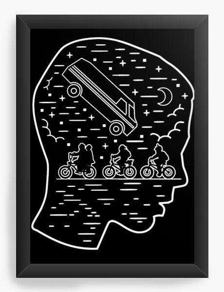 Quadro Decorativo A3 (45X33) Stranger Things - Nerd e Geek - Presentes Criativos