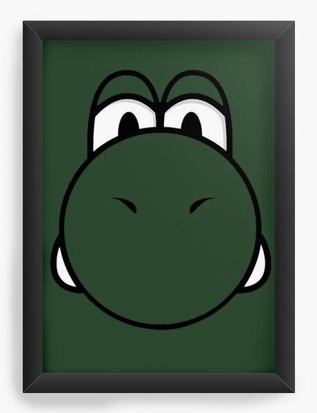 Quadro Decorativo A3 (45X33) Yoshi - Game - Nerd e Geek - Presentes Criativos