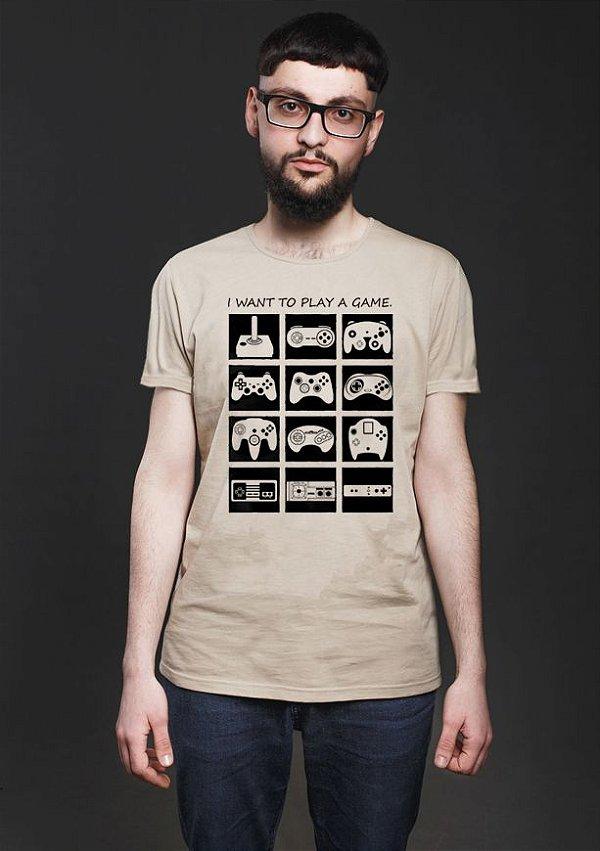 Camiseta Masculina Play Game - Presentes Criativos