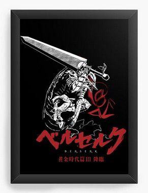 Quadro  Decorativo A3 45X33 Anime  Berserk