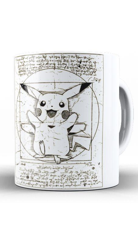 Caneca Pokemon Pikachu Nerd e Geek - Presentes Criativos