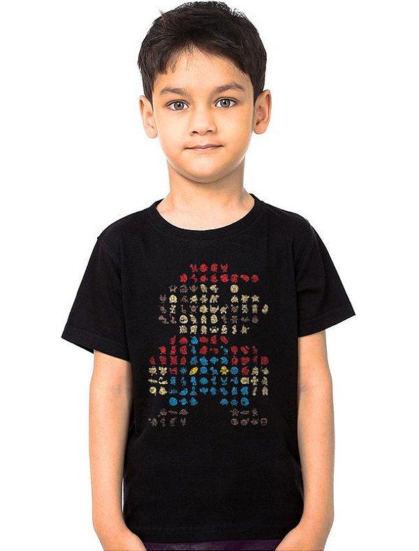 Camiseta Infantil Super Mario Bros - Nerd e Geek - Presentes Criativos