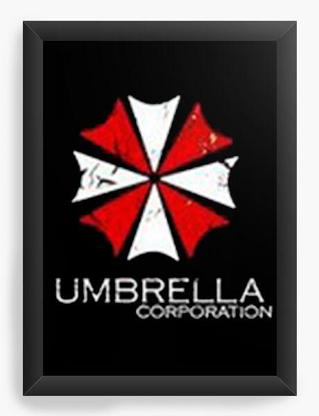 Quadro Decorativo A4 (33X24) Resident Evil Umbrella Corporation - Nerd e Geek - Presentes Criativos