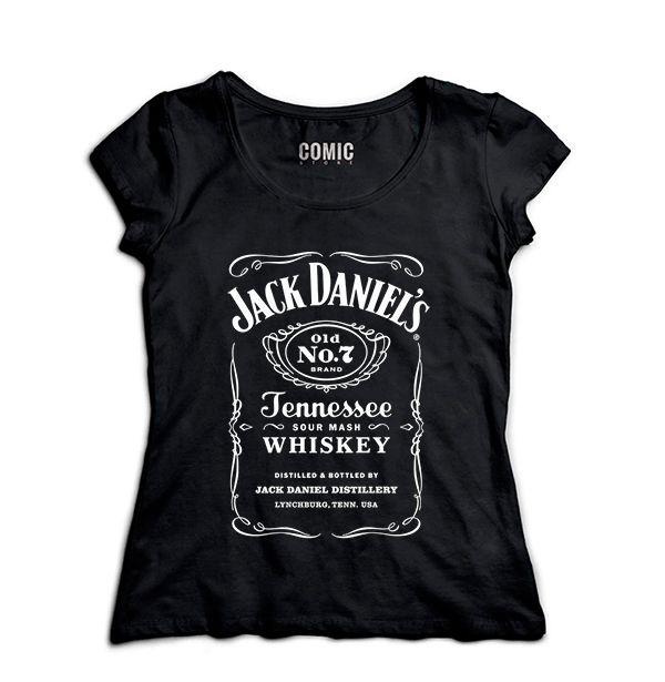 Camiseta Feminina Jack Daniels - Nerd e Geek - Presentes Criativos