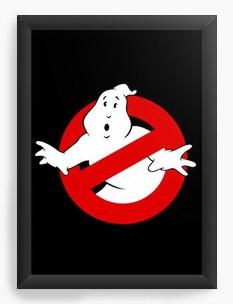 Quadro Decorativo A4 (33X24) Os Caça-Fantasmas - Nerd e Geek - Presentes Criativos